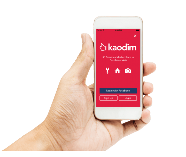 Kaodim app in Hand-1