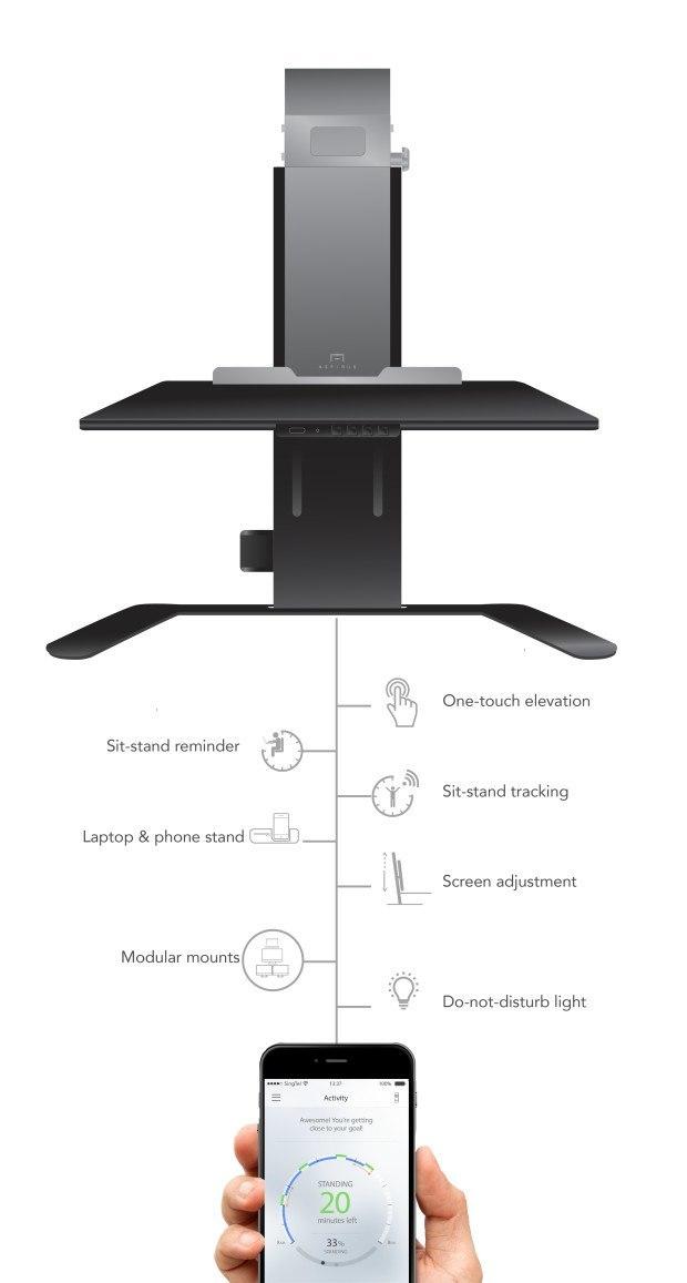 Aspirus smart standing desk
