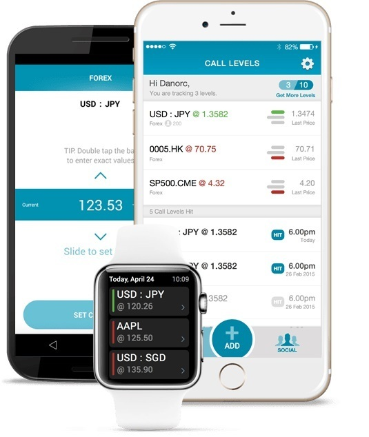 Call Levels mobile app for iOS, Android, Apple Watch
