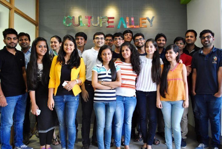Pranshu with her team at CultureAlley.