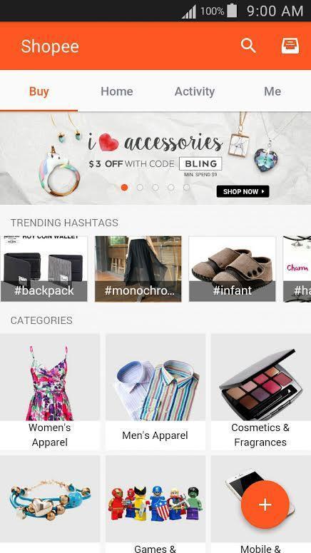 Shopee mobile app screenshot