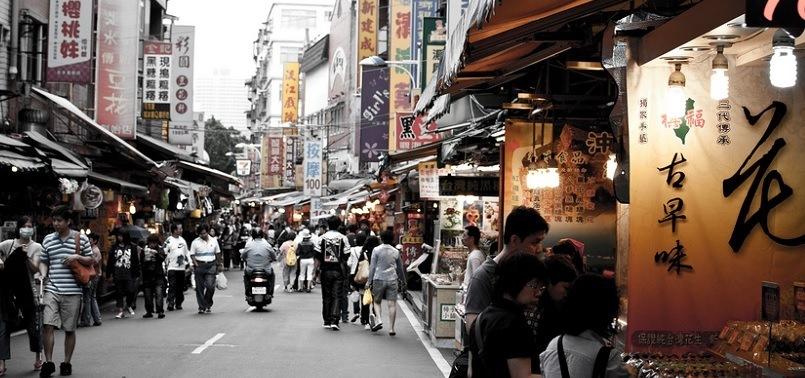 Street market in Taiwan