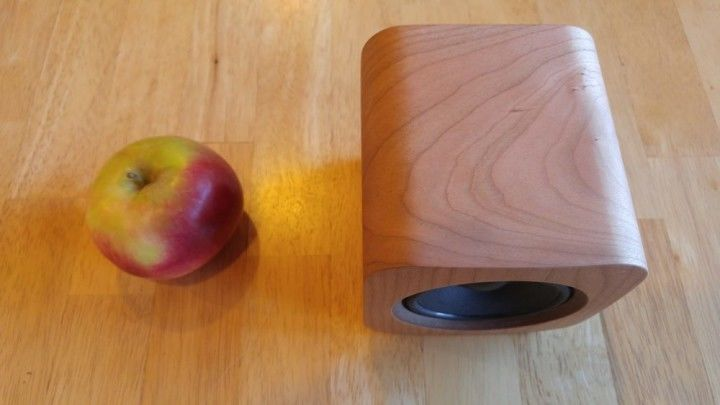 The Sugr Cube with an apple for scale.