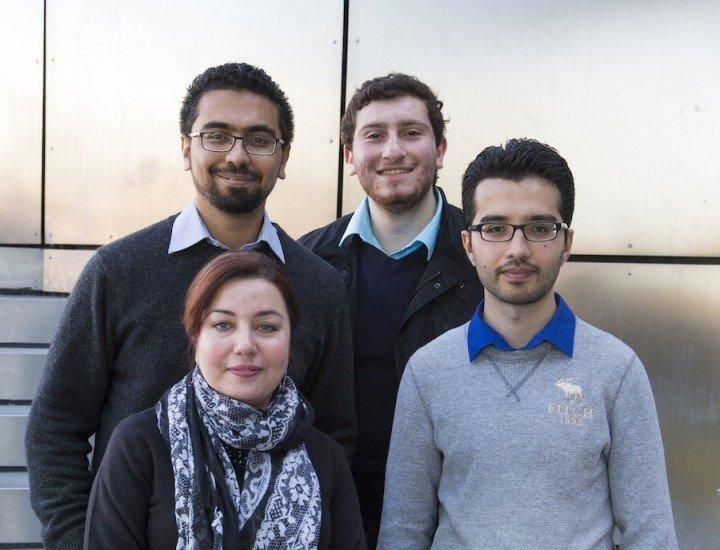 Team Abyss: Nasir Ahsan, Abraham Kazzaz, Masood Naqshbandi, and Hina Ahsan. (Clockwise from top left).
