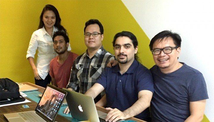 The GiveReceipt team. David on far right.