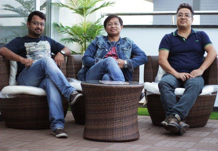 Giskaa's founders and leadership team: (from left) Ratheesh Elayat, Meghanath Singh, and Surchand Wahengbam