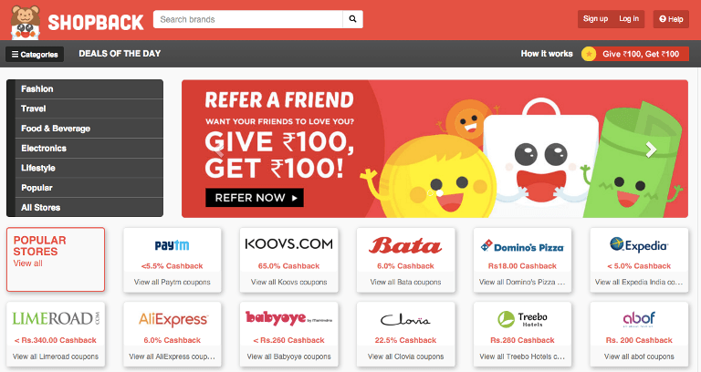 ShopBack debuts in India with Flipkart, Paytm - Tech in Asia