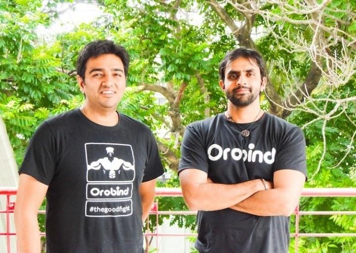 Orobind cofounders Shubhanshu Srivastava (left) and Satya Vyas
