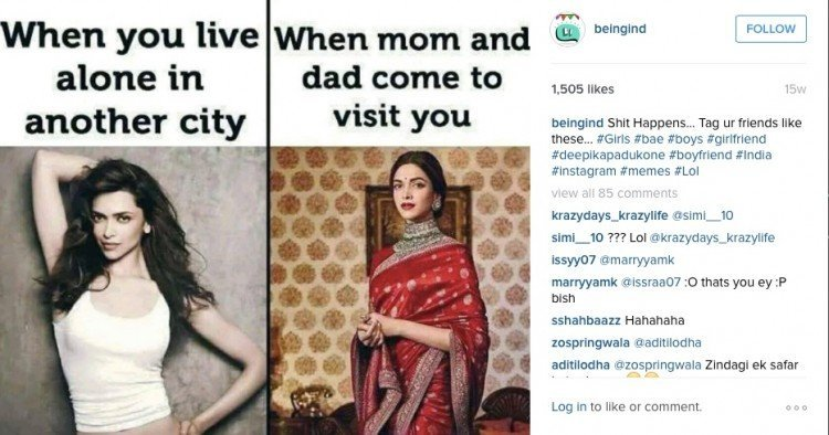 Photo credit: Being Indian's Instagram.