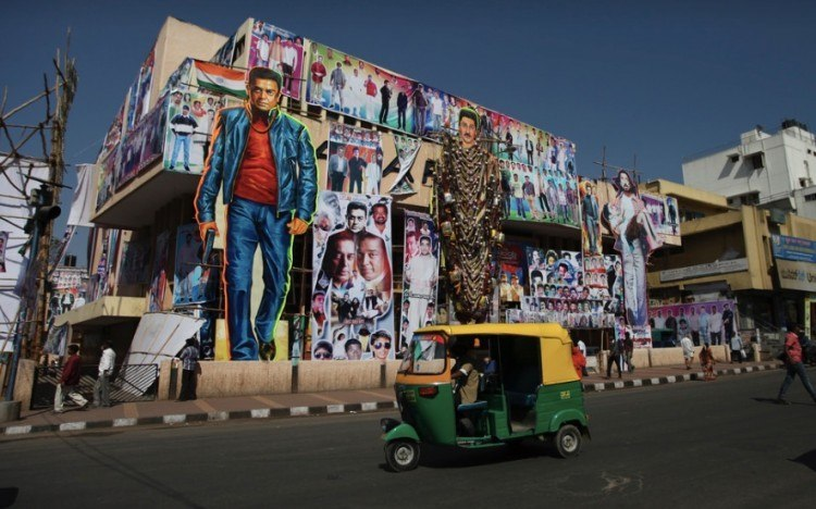 Some of India's movie stars are larger than life. Photo credit: Nicolas Mirguet.